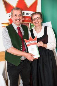 Essig Auszeichnungen Prämiert goldener Essig Genusskrone Österreich, Farmer-Rabensteiner, Walnussessig
